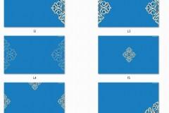 蓝色图案为主题ppt背景图